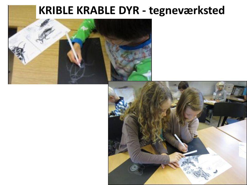 KRIBLE KRABLE DYR - tegneværksted