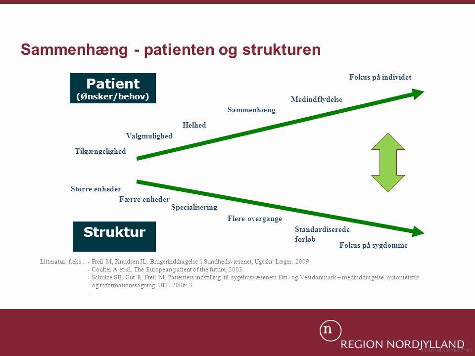 Sammenhæng - patienten og strukturen