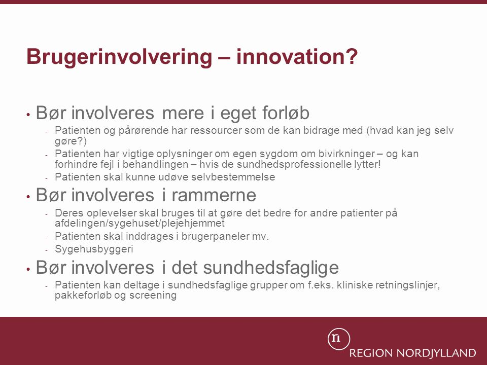 Brugerinvolvering – innovation