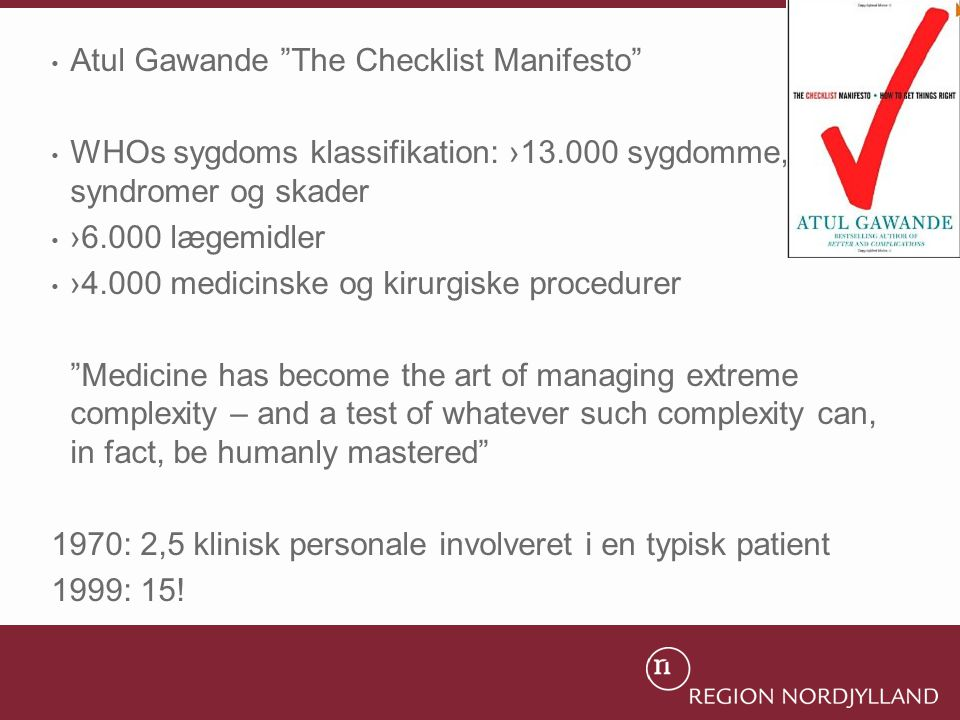 Atul Gawande The Checklist Manifesto