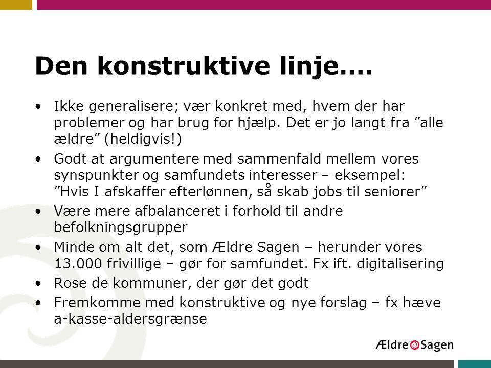 Den konstruktive linje….