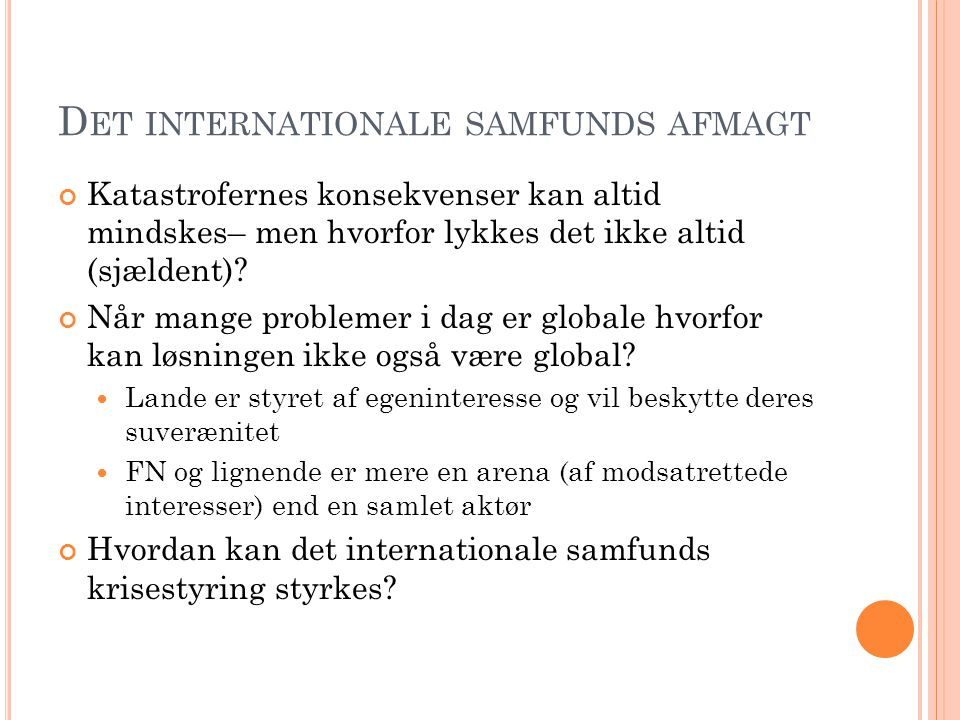 Det internationale samfunds afmagt