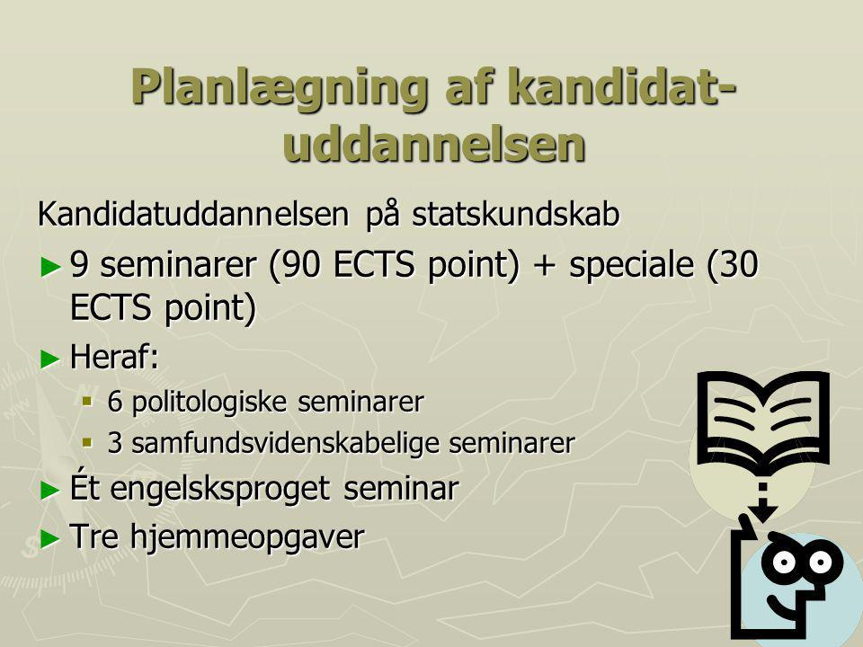 Planlægning af kandidat-uddannelsen