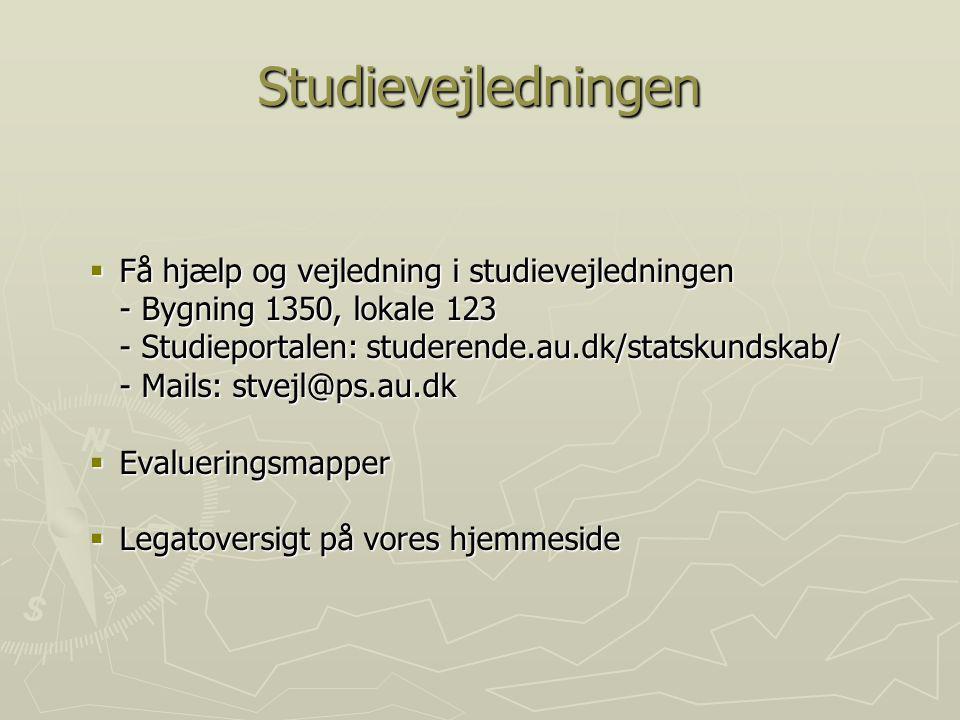 Studievejledningen Få hjælp og vejledning i studievejledningen
