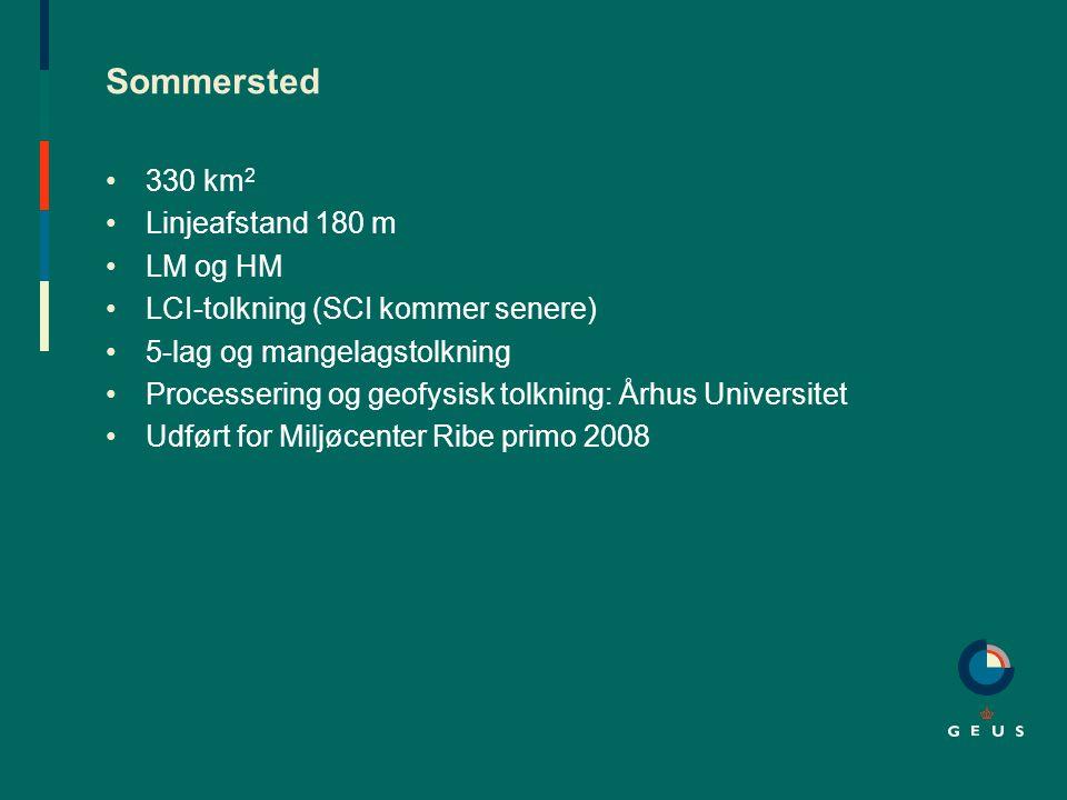 Sommersted 330 km2 Linjeafstand 180 m LM og HM
