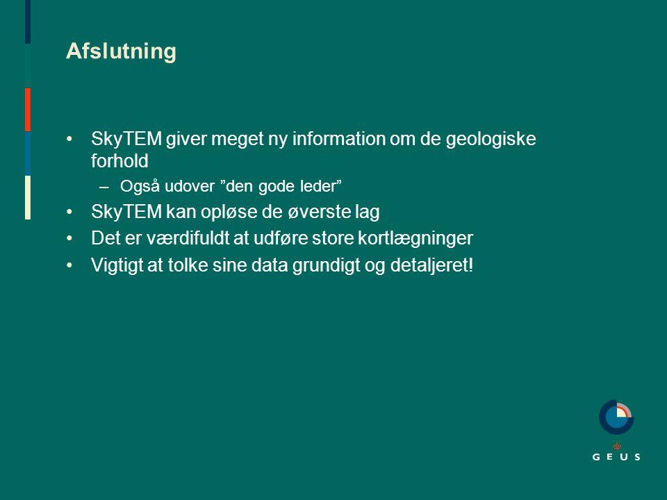 Afslutning SkyTEM giver meget ny information om de geologiske forhold