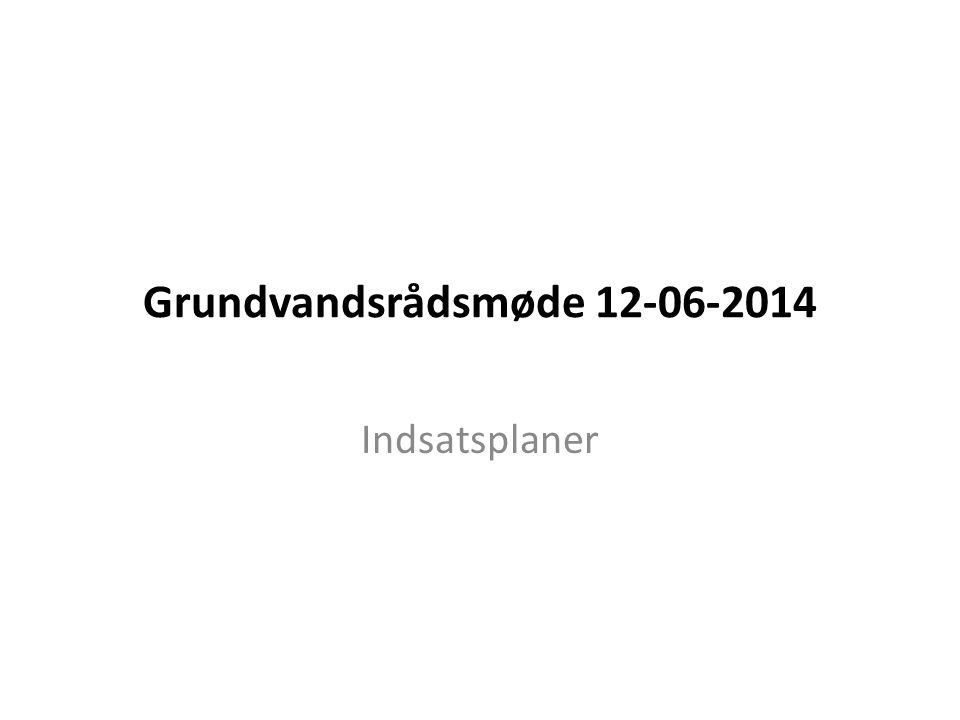 Grundvandsrådsmøde 12-06-2014