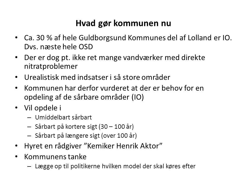 Hvad gør kommunen nu Ca. 30 % af hele Guldborgsund Kommunes del af Lolland er IO. Dvs. næste hele OSD.