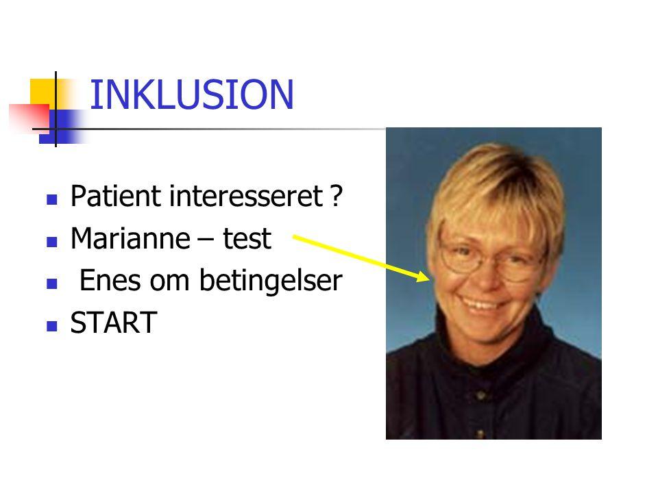INKLUSION Patient interesseret Marianne – test Enes om betingelser