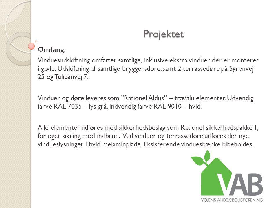 Projektet Omfang: