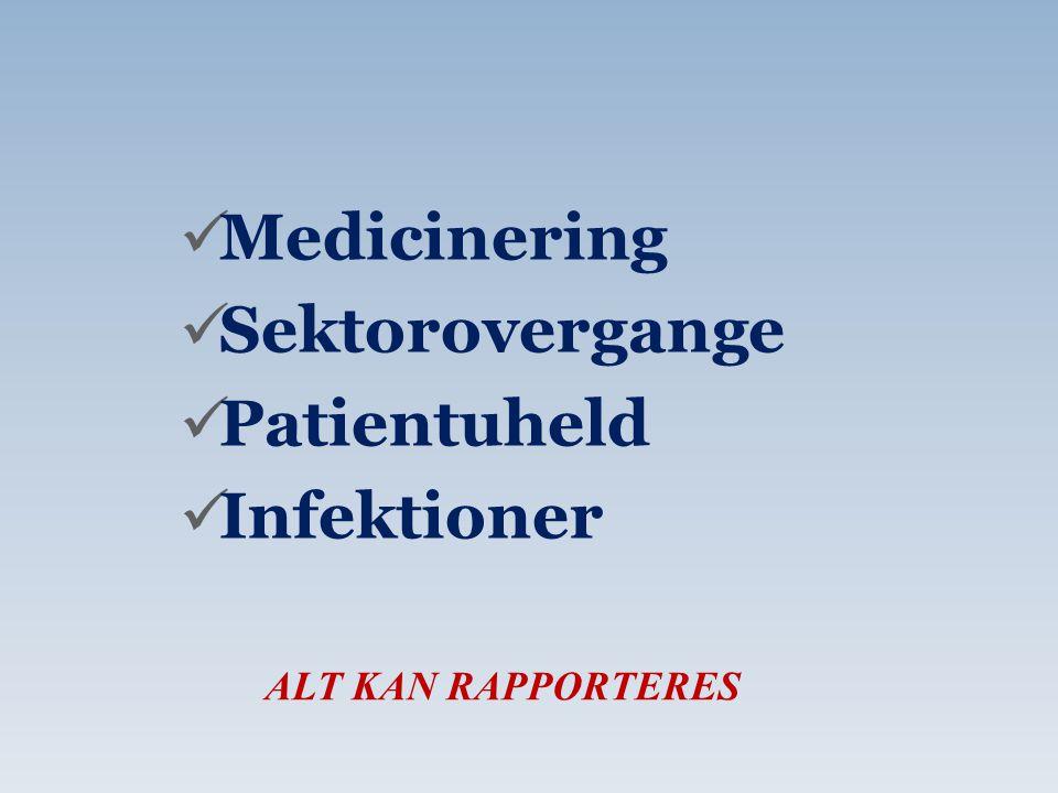 Medicinering Sektorovergange Patientuheld Infektioner