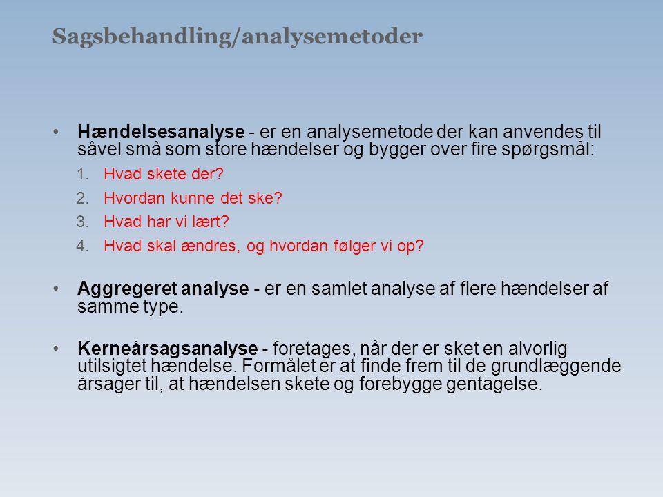 Sagsbehandling/analysemetoder