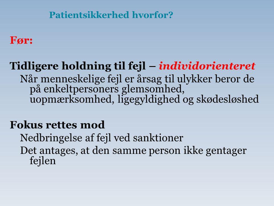 Patientsikkerhed hvorfor