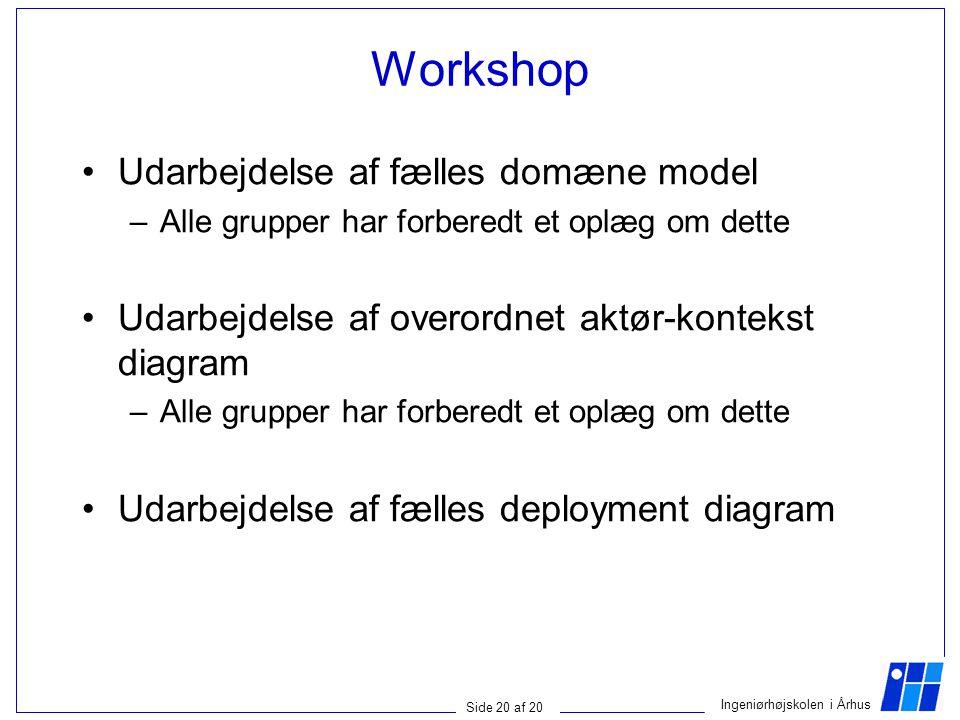 Workshop Udarbejdelse af fælles domæne model