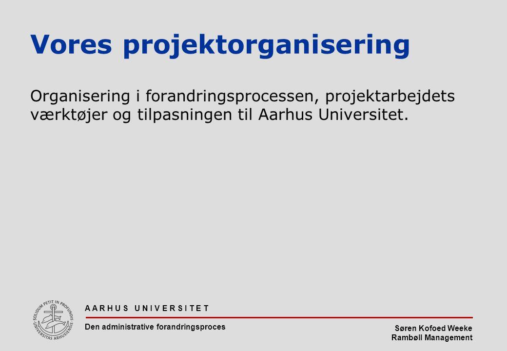 Vores projektorganisering