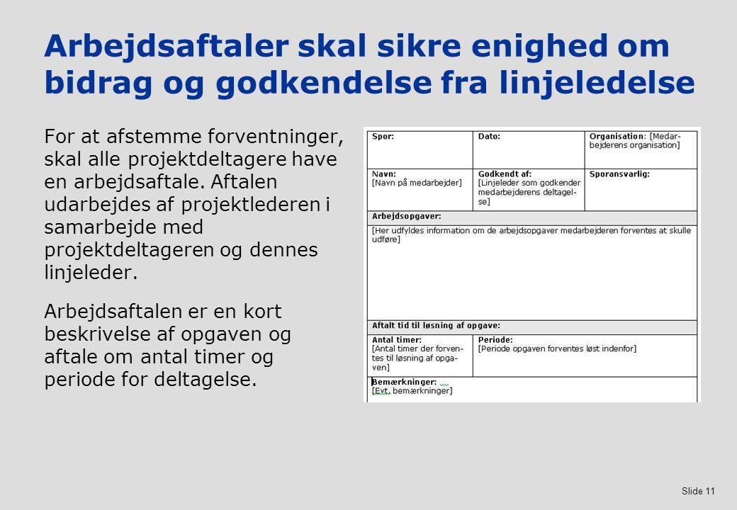 Arbejdsaftaler skal sikre enighed om bidrag og godkendelse fra linjeledelse