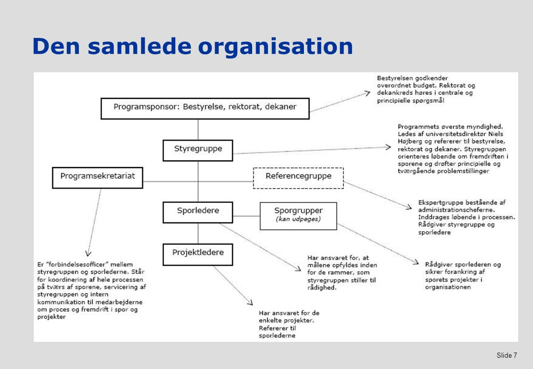 Den samlede organisation