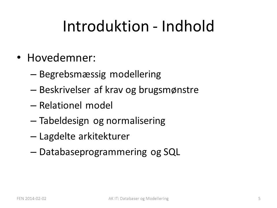 Introduktion - Indhold