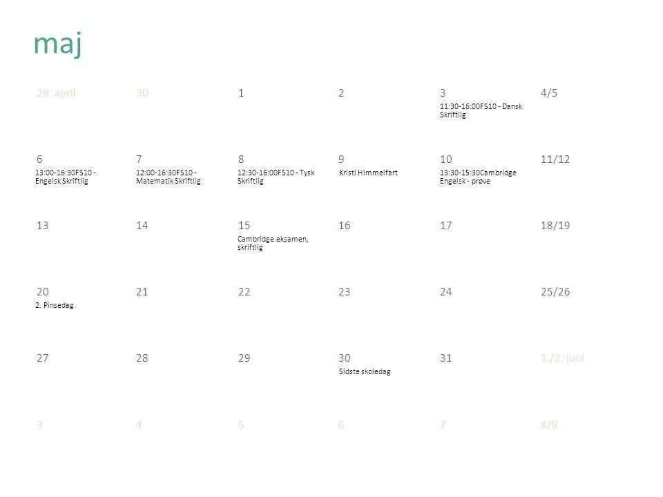 11:30-16:00FS10 - Dansk Skriftlig