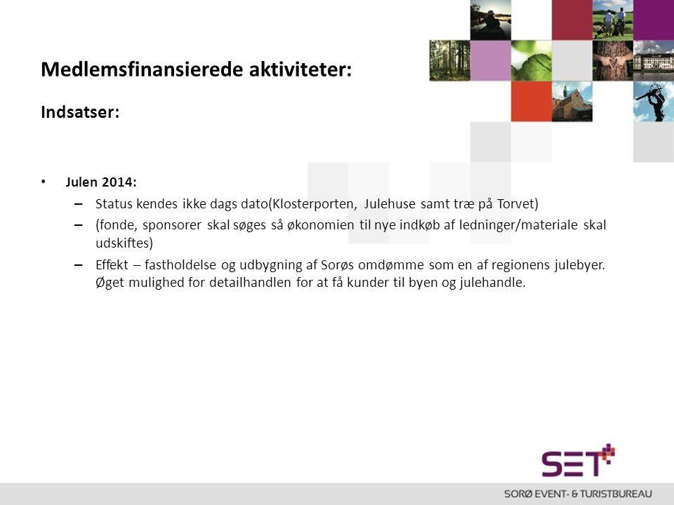 Medlemsfinansierede aktiviteter: