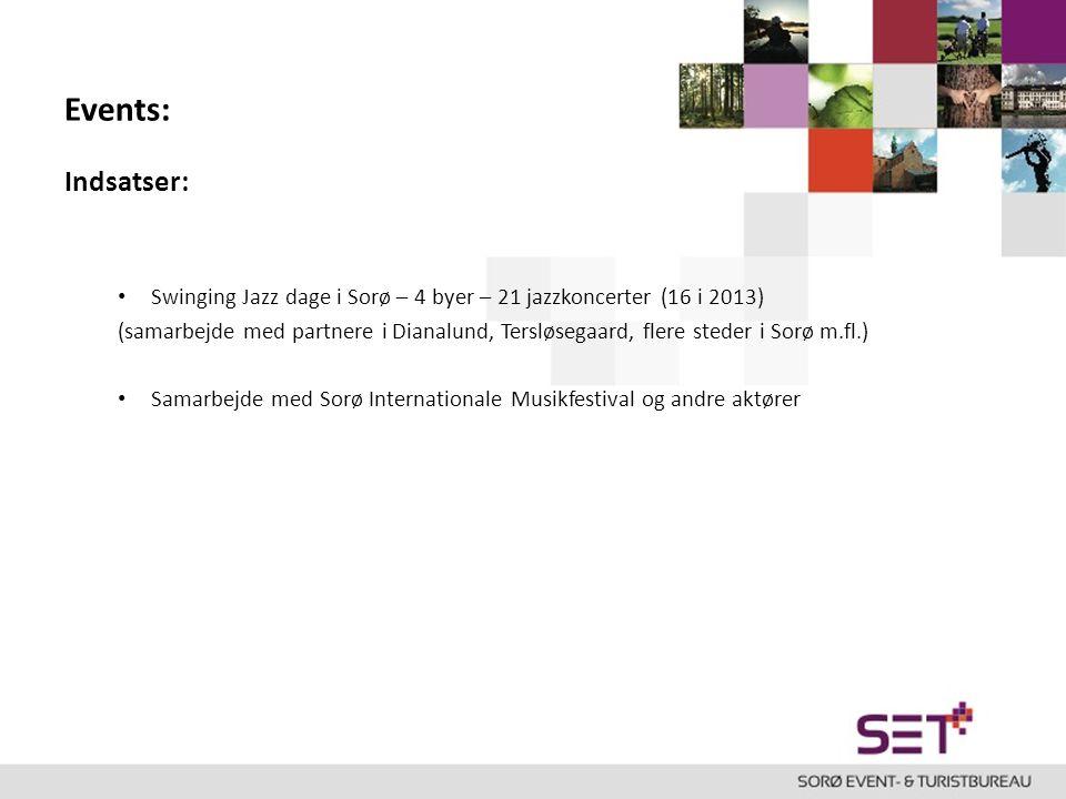 Events: Indsatser: Swinging Jazz dage i Sorø – 4 byer – 21 jazzkoncerter (16 i 2013)