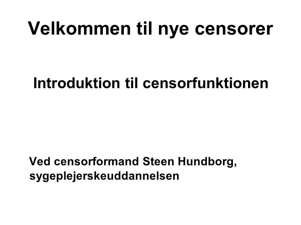 Velkommen til nye censorer