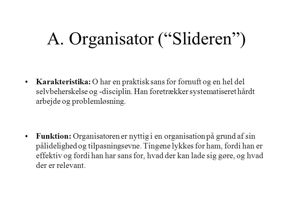 A. Organisator ( Slideren )
