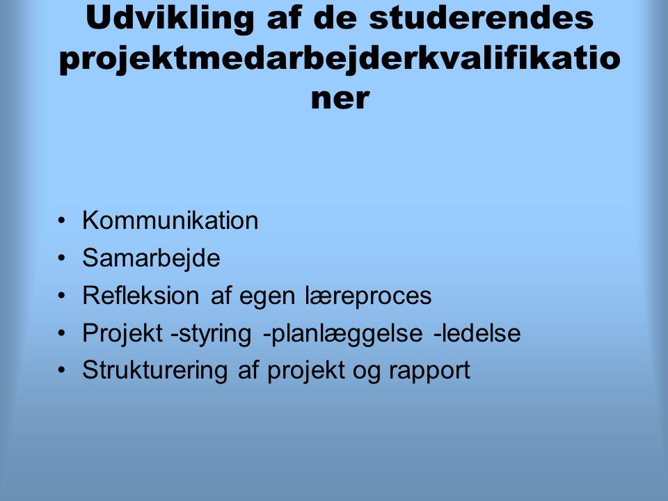 Udvikling af de studerendes projektmedarbejderkvalifikationer