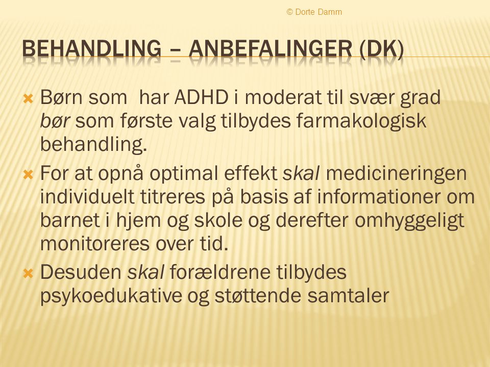 Behandling – anbefalinger (dk)