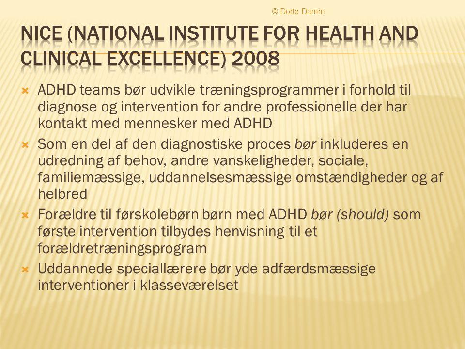 Nice (national institute for health and clinical excellence) 2008