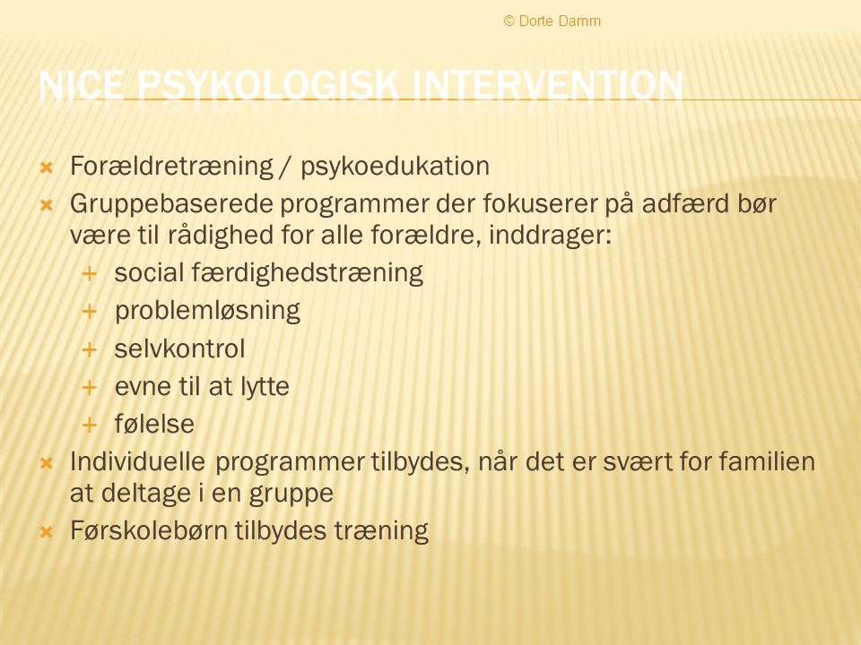Nice psykologisk intervention