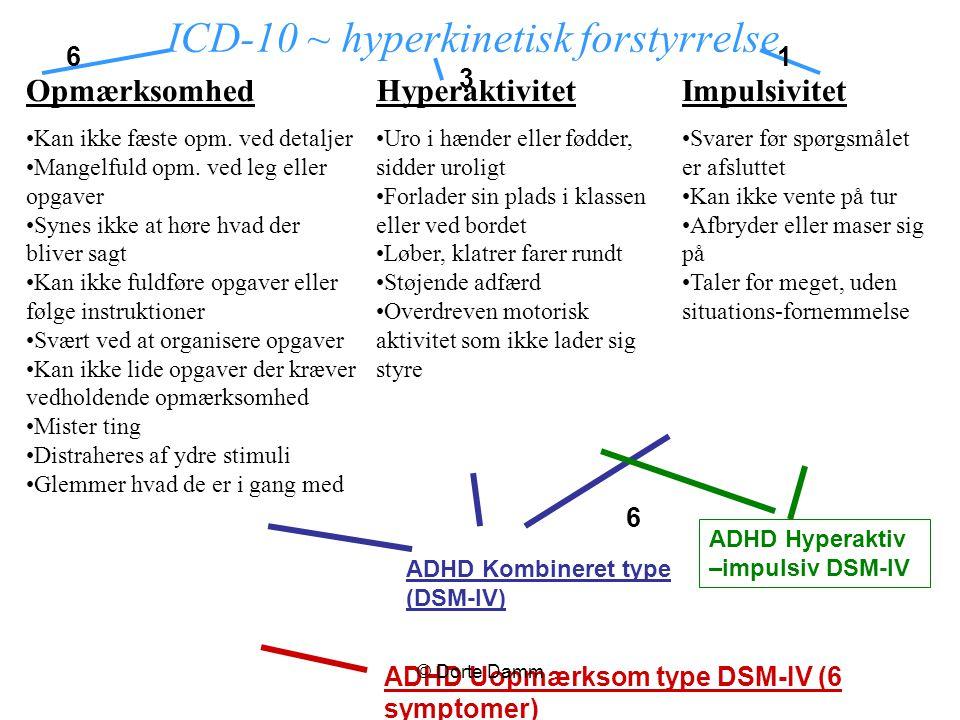 ICD-10 ~ hyperkinetisk forstyrrelse