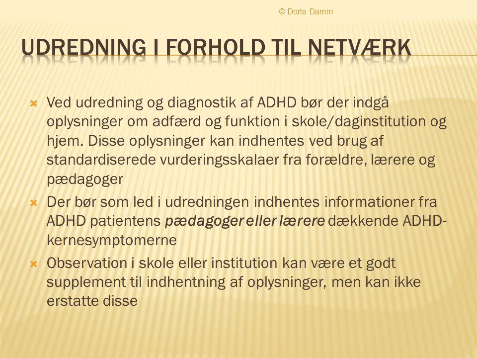 Udredning i forhold til netværk