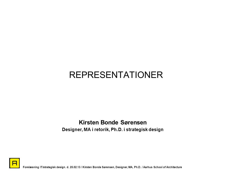 REPRESENTATIONER Kirsten Bonde Sørensen