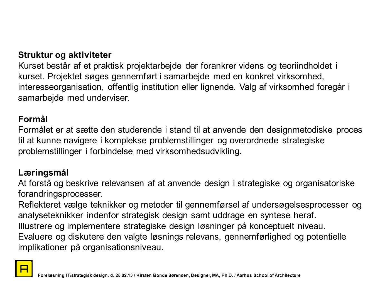 Struktur og aktiviteter
