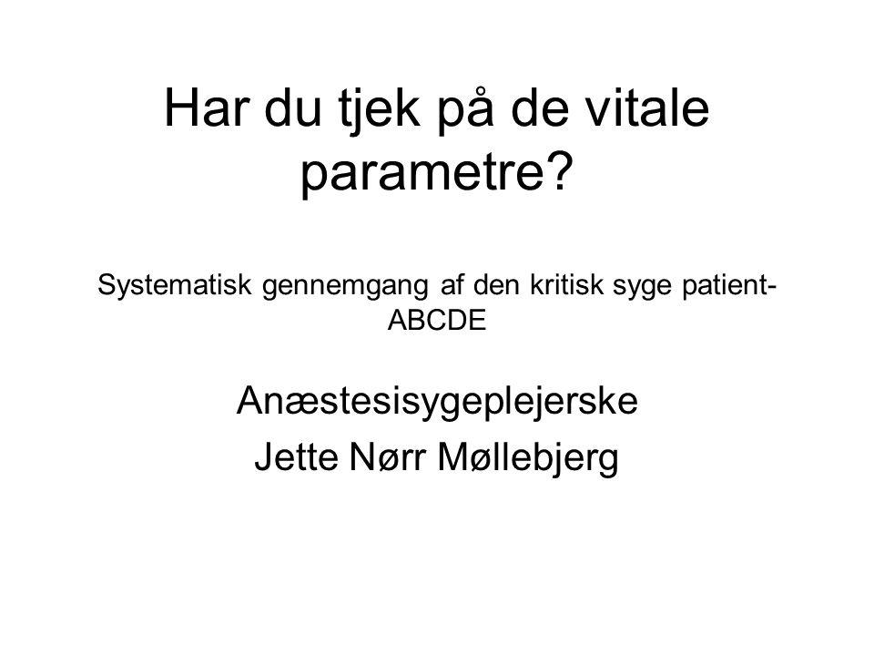 Anæstesisygeplejerske Jette Nørr Møllebjerg