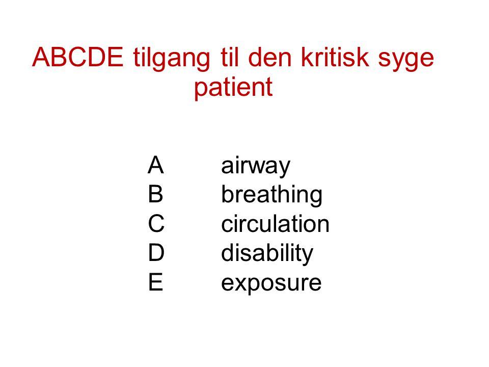 ABCDE tilgang til den kritisk syge patient