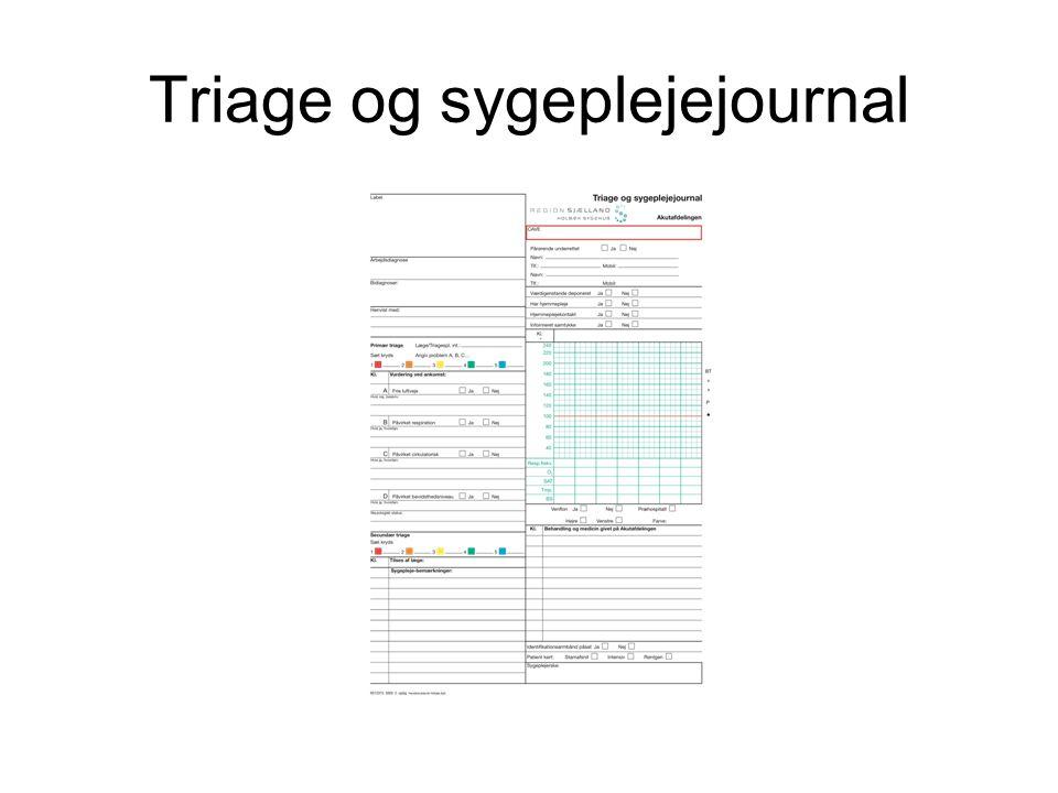 Triage og sygeplejejournal