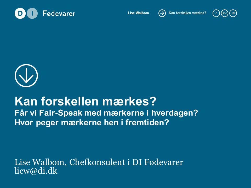 Lise Walbom, Chefkonsulent i DI Fødevarer licw@di.dk