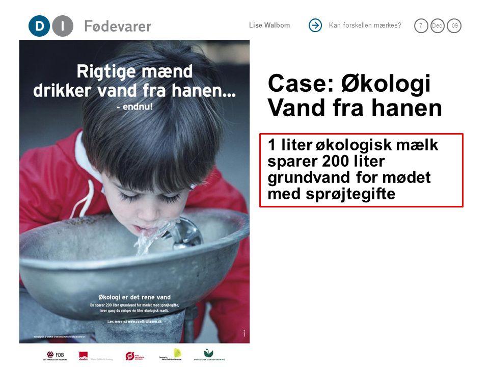 Case: Økologi Vand fra hanen