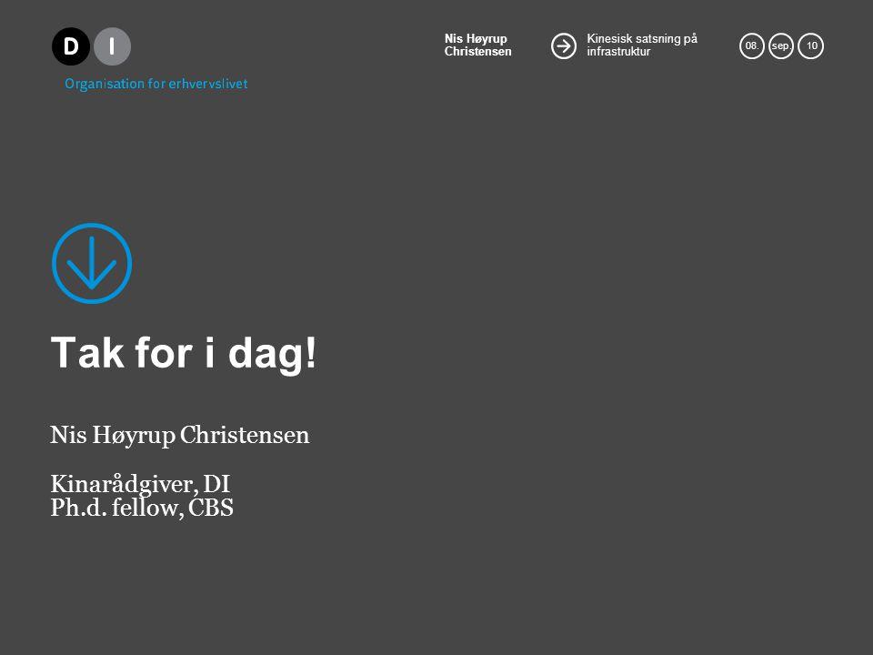 Nis Høyrup Christensen Kinarådgiver, DI Ph.d. fellow, CBS