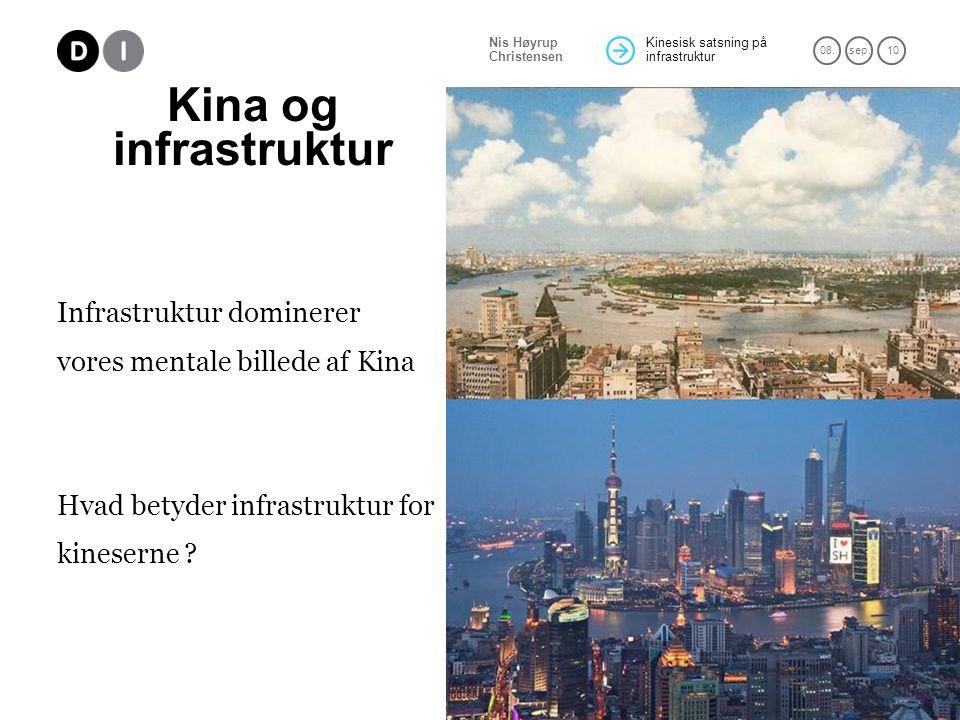 Kina og infrastruktur Infrastruktur dominerer