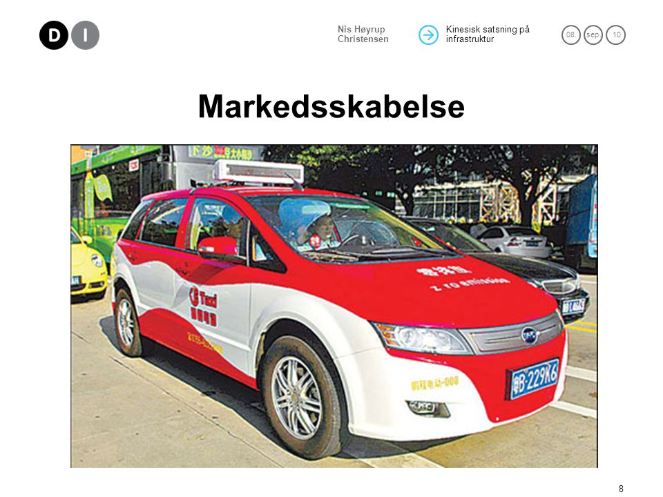 Markedsskabelse one of the 30 drivers in Shenzhen of the BYD e6, an all-electric crossover car made by Chinese automaker BYD Co Ltd.