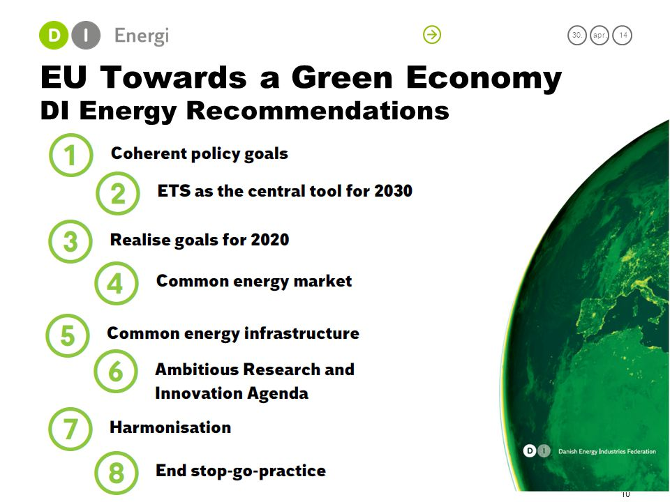 EU Towards a Green Economy DI Energy Recommendations