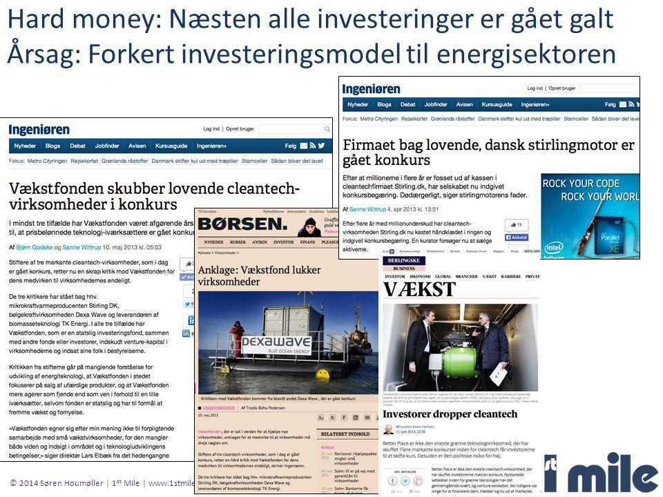 Hard money: Næsten alle investeringer er gået galt Årsag: Forkert investeringsmodel til energisektoren