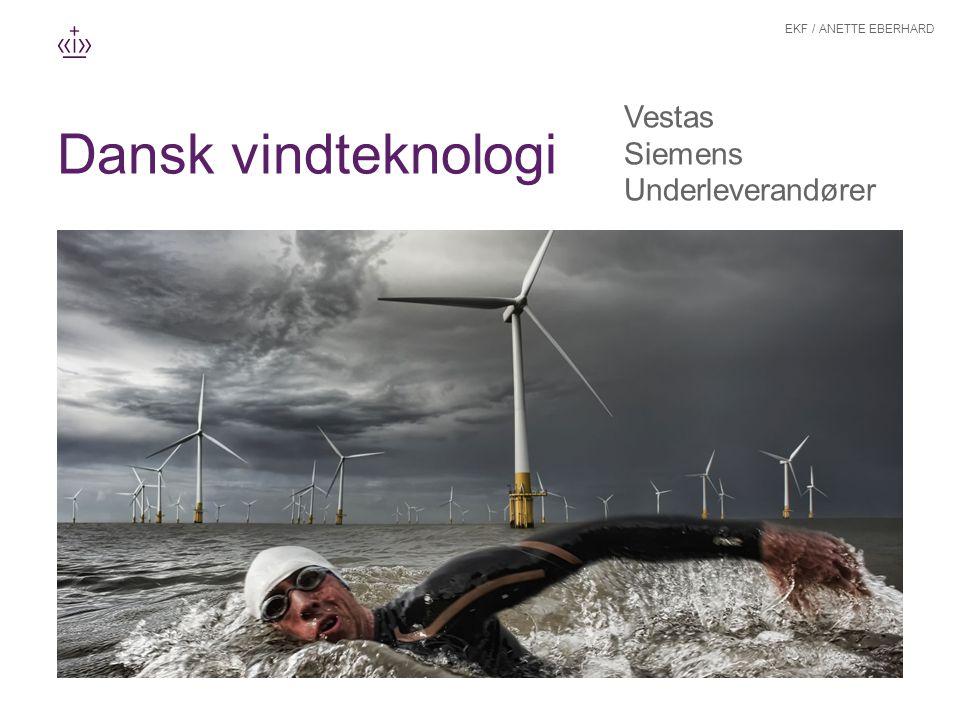 Dansk vindteknologi Vestas Siemens Underleverandører