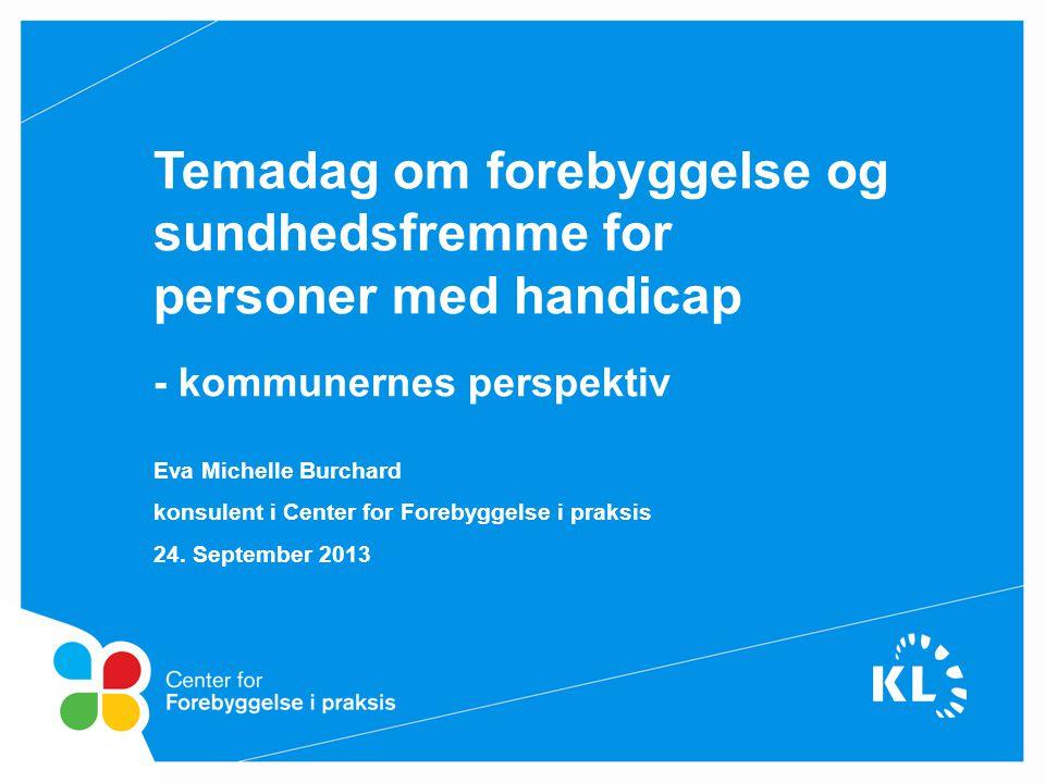 Temadag om forebyggelse og sundhedsfremme for personer med handicap