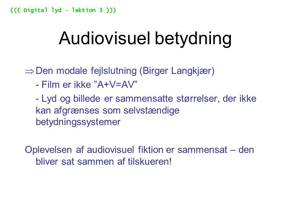 Audiovisuel betydning