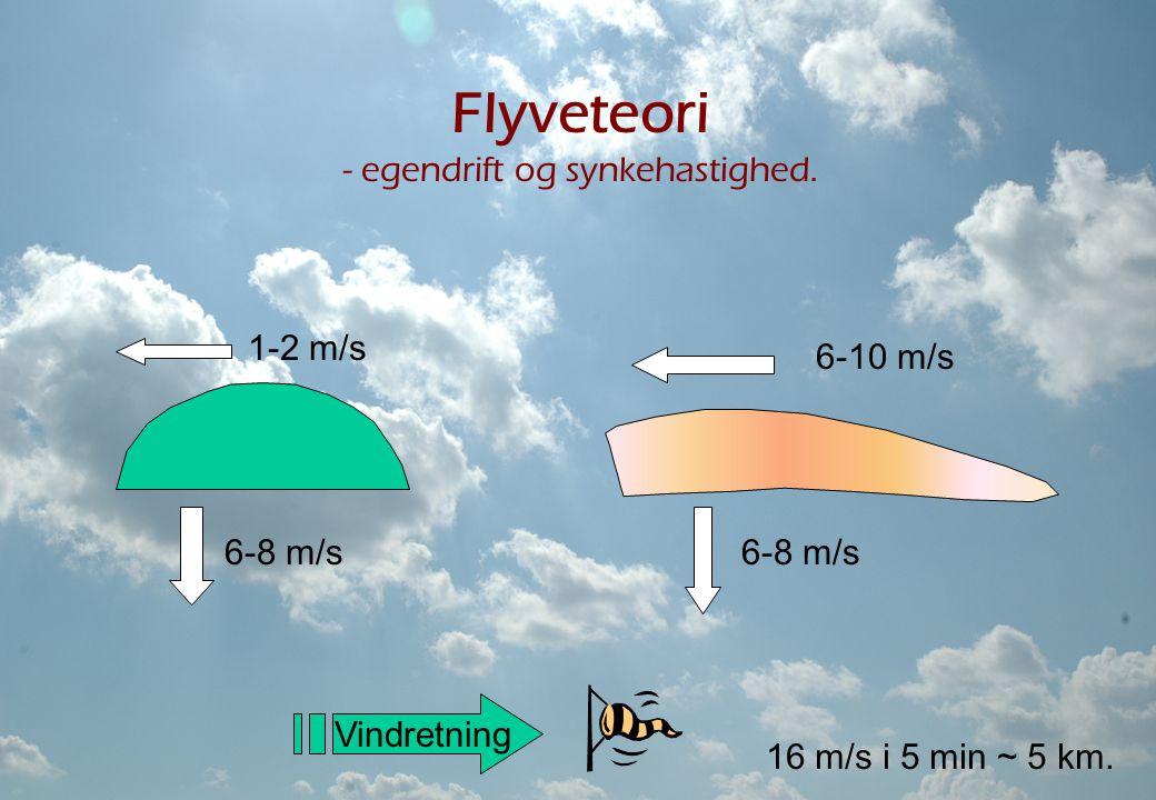 Flyveteori - egendrift og synkehastighed.