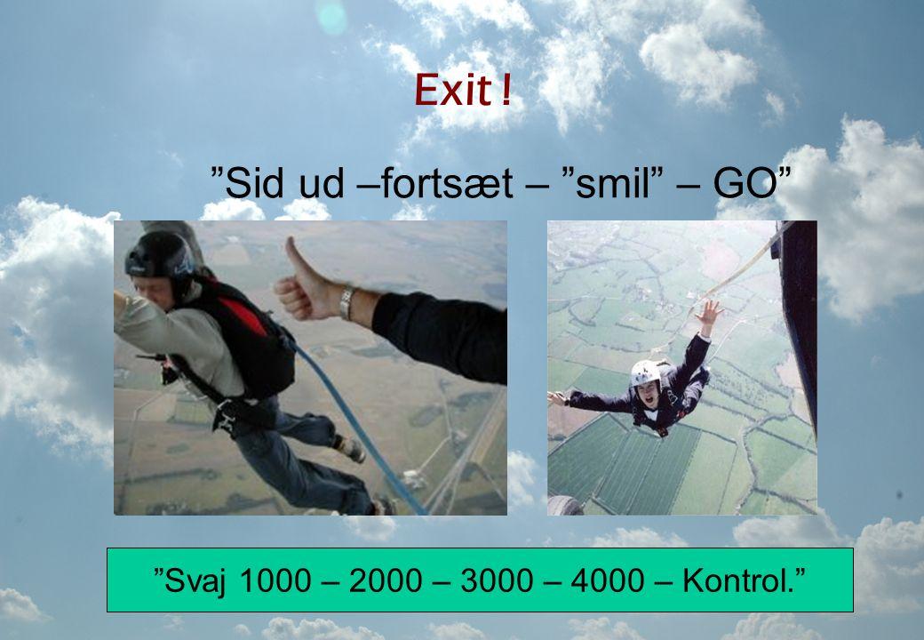 Sid ud –fortsæt – smil – GO